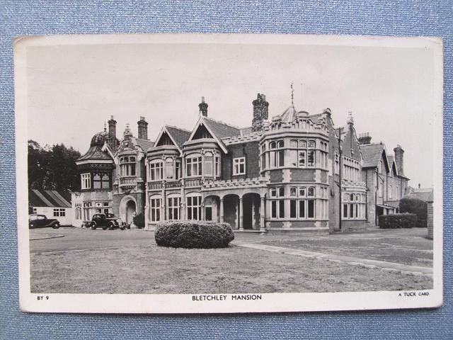 Bletchley Park mansion, c1955. It was decided in the spring of 1938 to move the Government Code and Cipher School from London to Bletchley Park on the outbreak of war, to become the so-called 'War Station'.