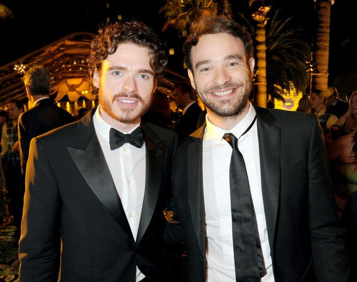 Richard Madden and Charlie Cox seemed happy to see each other at | 34 Pictures of Hot British Actors Being Hot Together | POPSUGAR Celebrity UK