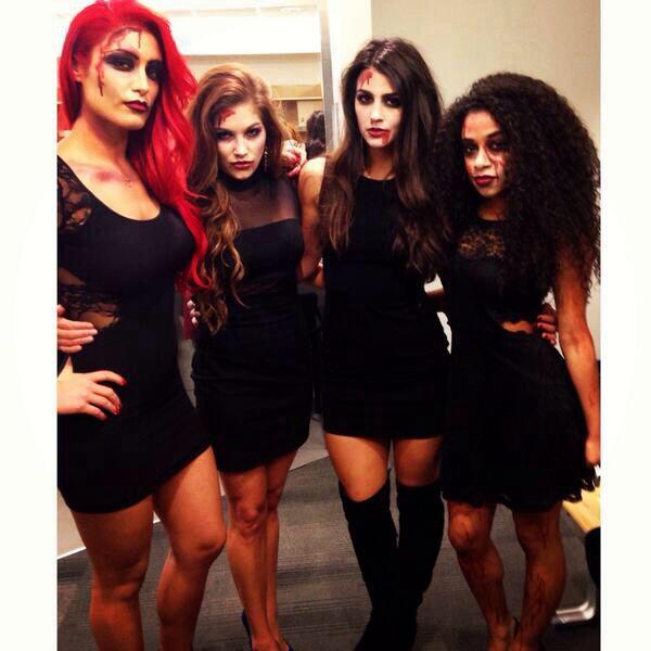 Eva Marie, Rebecca Quin, Veronica Lane  Jojo WWE NXT Divas