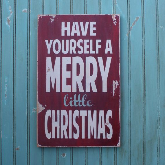 i love distressed signs. christmas