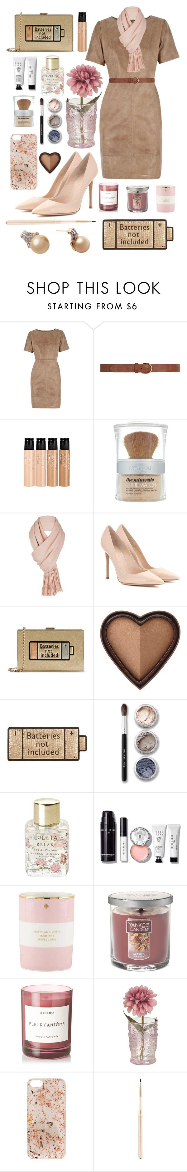 """Convenient pastel"" by anna-modestovna ❤ liked on Polyvore featuring Oasis, Dorothy Perkins, mark., L'Oréal Paris, Free People, Gianvito Rossi, Anya Hindmarch, Too Faced Cosmetics, Bare Escentuals and Lollia"