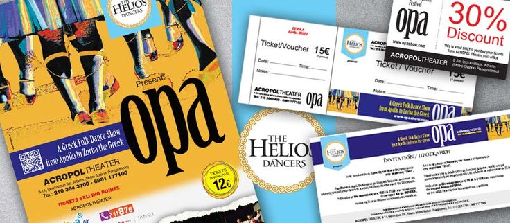 At ThinkBag we designed all the promotional & marketing material needed of OPA SHOW (tickets, invitations, discount coupons, displays etc.)