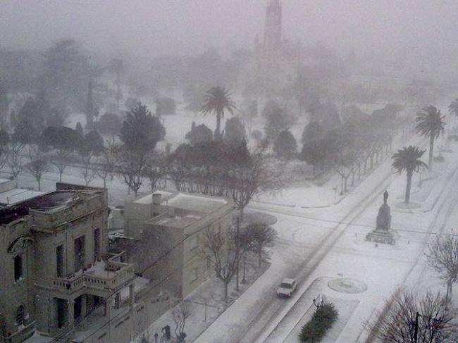 Argentina snow -Bahia Blanca BA