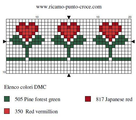 amour - love - fleur - coeur - point de croix - cross stitch - Blog : http://broderiemimie44.canalblog.com/