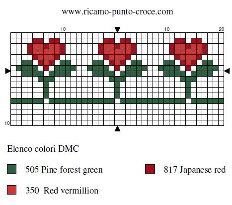 amour - love - fleur - coeur - point de croix - cross stitch - Blog : http://broderiemimie44.canalblog.com/
