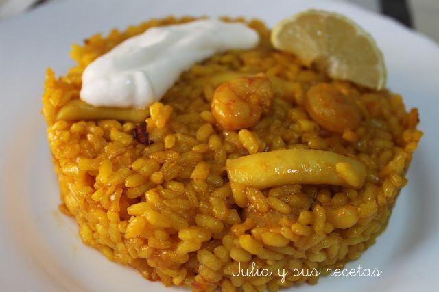 JULIA Y SUS RECETAS: ARROZ A BANDA | Receptes | Pinterest ...
