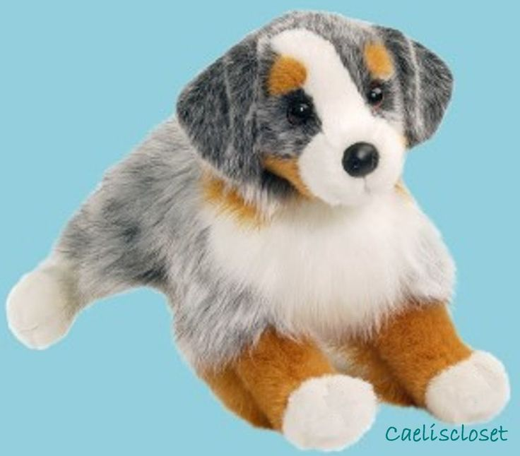"Douglas Sinclair AUSTRALIAN SHEPHERD 16"" Plush Dog Stuffed Animal Cuddle Toy NEW #Douglas"