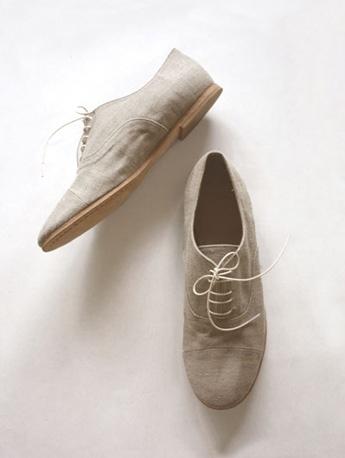 evam eva linen straight tip shoes