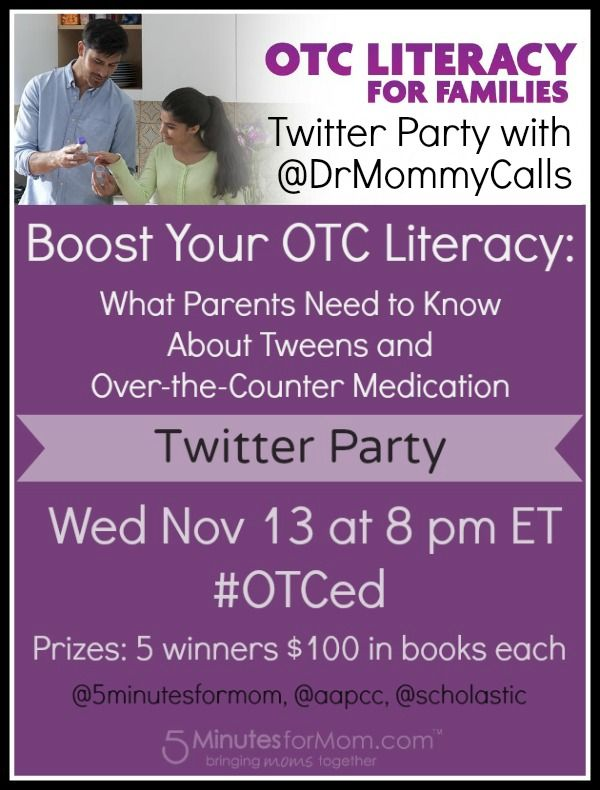 Twitter Party - Nov 13 at 8pm ET -  What Parents Need to Know About Tweens and Over-the-Counter Medication: Otc Literacy, Overthecount Medical, Parties Brought, Over The Counted Medical, Twitter Parties, Critical Discuss, Parties Talk, Medical Otc, Medical Parents