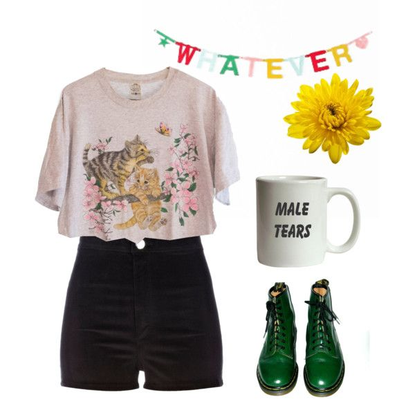 Untitled #26 by cornelia-poeschl on Polyvore featuring polyvore fashion style River Island Dr. Martens ColoredPrints