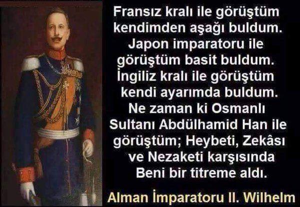 Alman İmparatorunun Abdülhamid hakkındaki düşünceleri