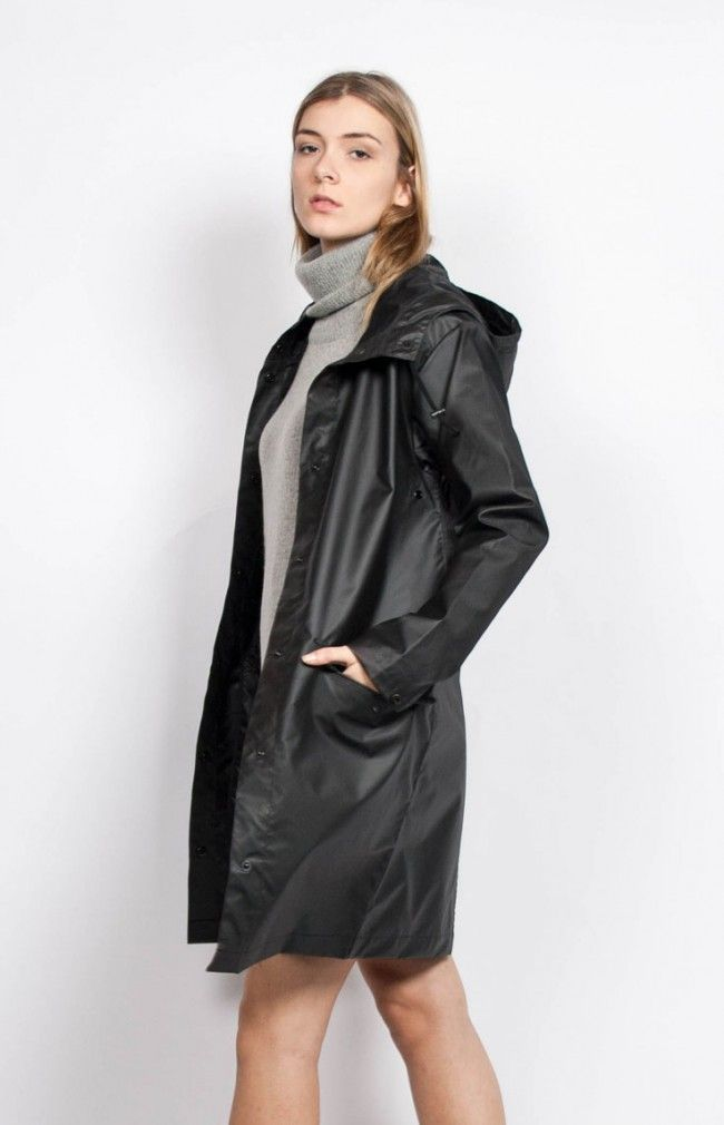 ALORA RAINCOAT Long waterproof raincoat. #anglestore #raincoat #black #simplicity #winter2015 #fashion #barcelona