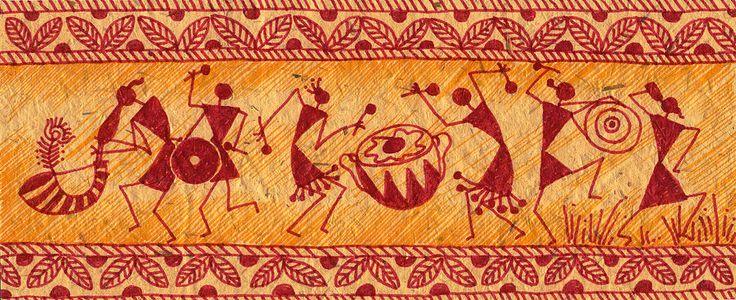 Dancing Warlis Painting