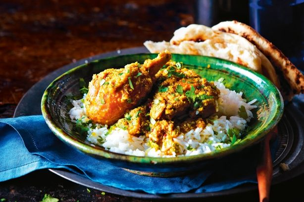 The secret to this rich curry is a homemade spice paste made with toasted coconut.