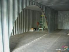 shipping container made into living space, would be cool under ground