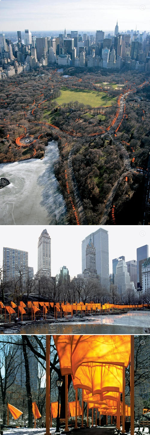 Christo and Jeanne-Claude  - The Gates, Central Park, NYC. So glad I got to see it in person.