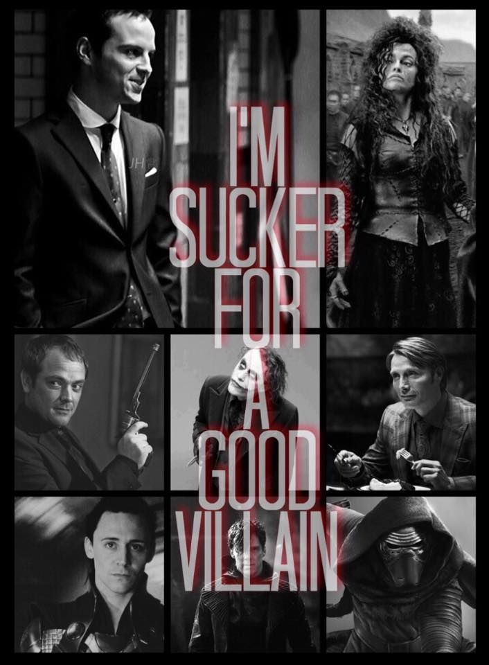 bellatrix, moriarty, loki- possibly my favorite characters from those fanfoms