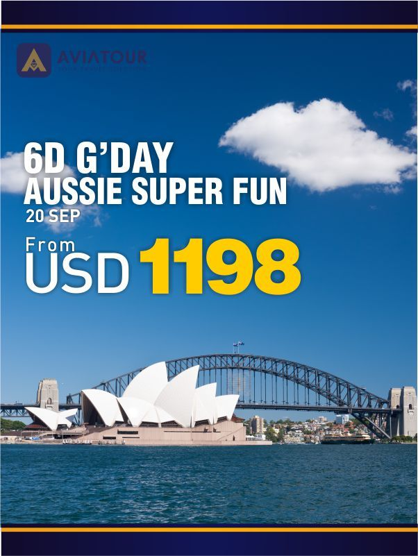 6D Gday Aussie Super Fun with AviaTour For more info please call 021-4223838 #AviaPromo #Gday #travel #Holiday