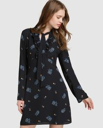 Vestido de mujer Pepe Jeans con estampado floral y adorno de lazo