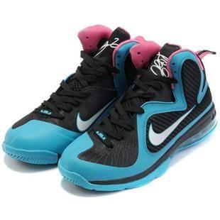 Nike Zoom LeBron 9 IX  South Beach Black/Blue/White