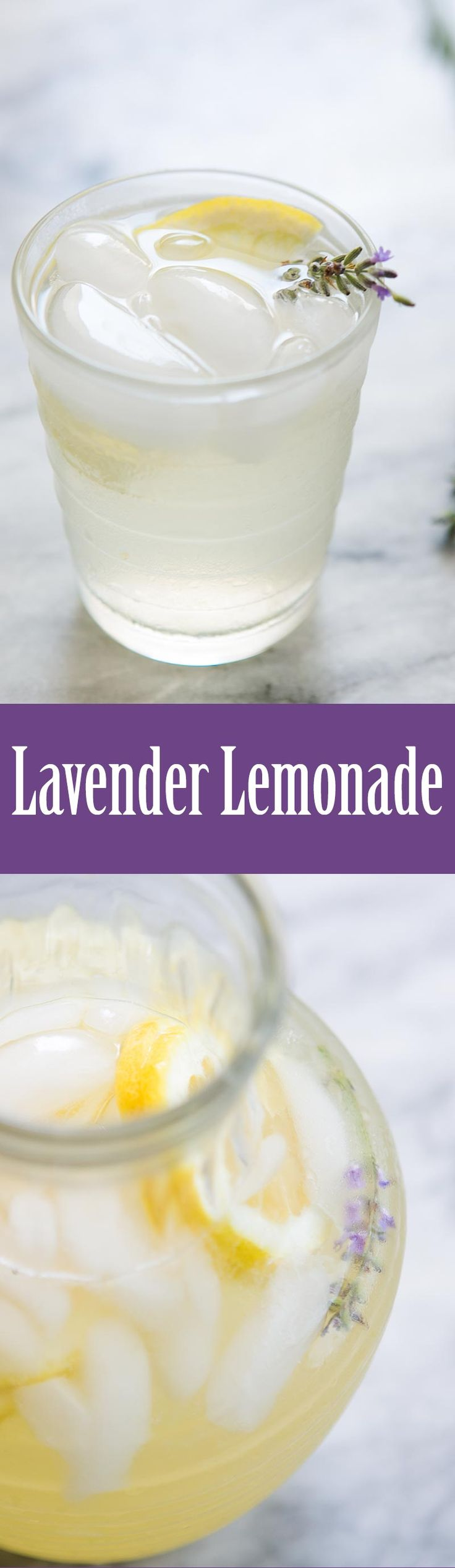 Homemade lemonade infused with lavender! Such a refreshing floral twist on lemonade.
