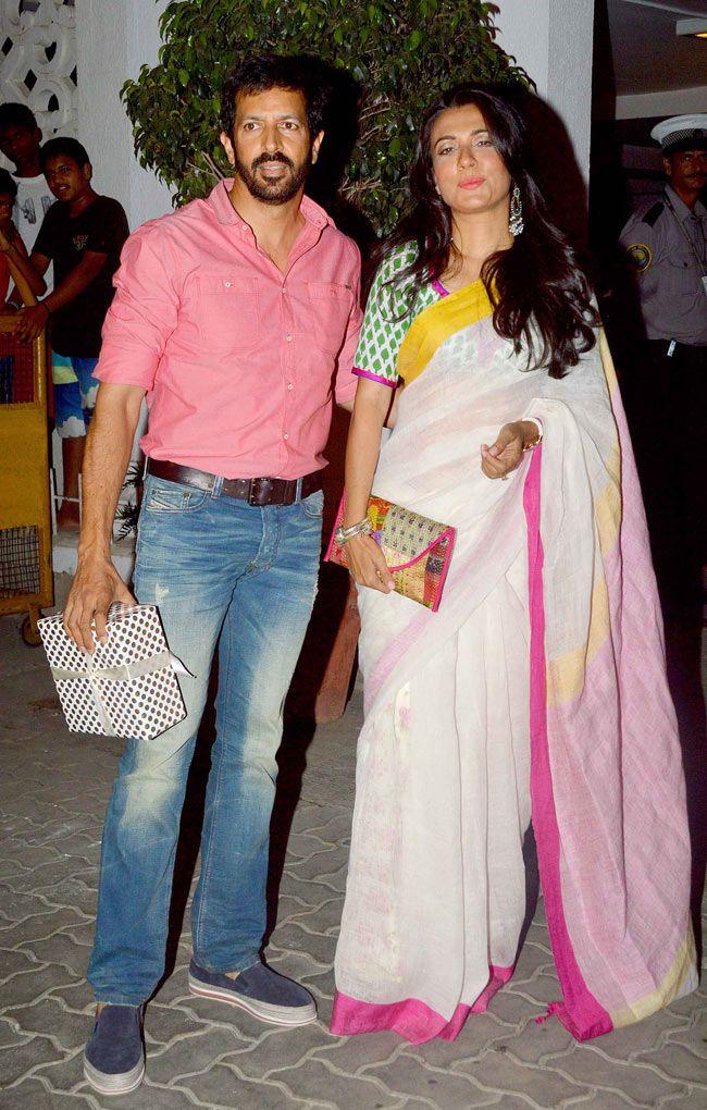 Kabir Khan and wife Mini Mathur at Karan Johar's birthday bash.