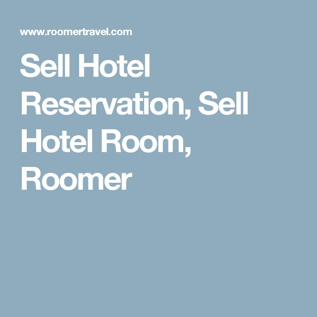 Sell Hotel Reservation, Sell Hotel Room, Roomer