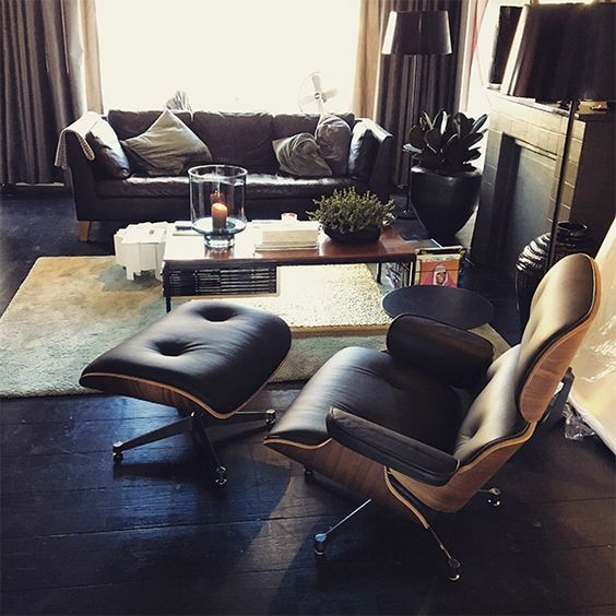 Eames Lounge Chair Mit Ottoman Schwarz Günstig Online Kaufen? ✓ 2 Jahre  Gewährleistung ✓Rückgabe Innerhalb Von 14 Tagen ✓ Versandkostenfrei!