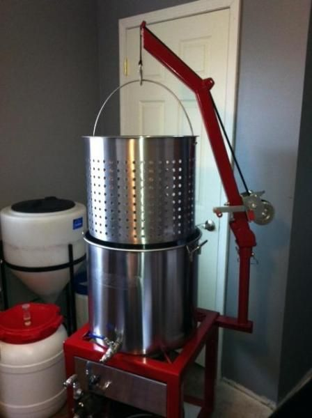 BIAB brew stand with hoist and pump - Home Brew Forums