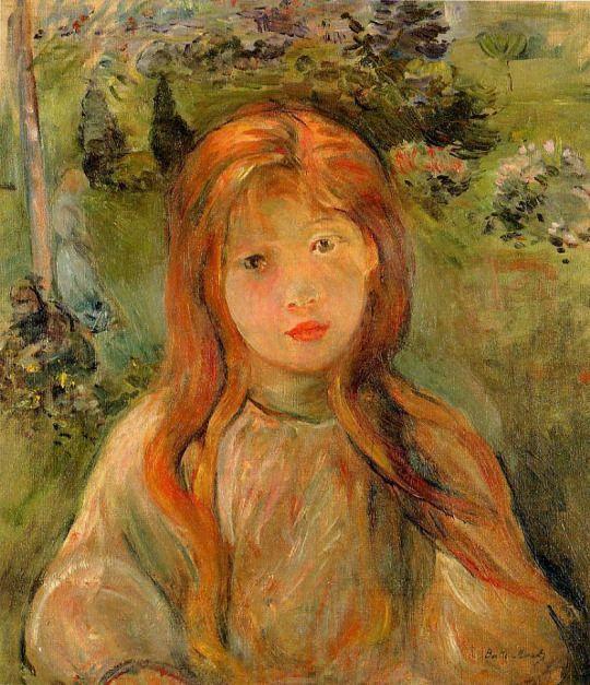 Little Girl at Mesnil by Berthe Morisot