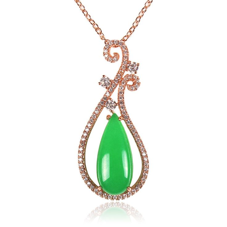 Nature stone Charming and graceful design pendant necklace high class from the famous Ping Chau Street jade in Foshan db3304