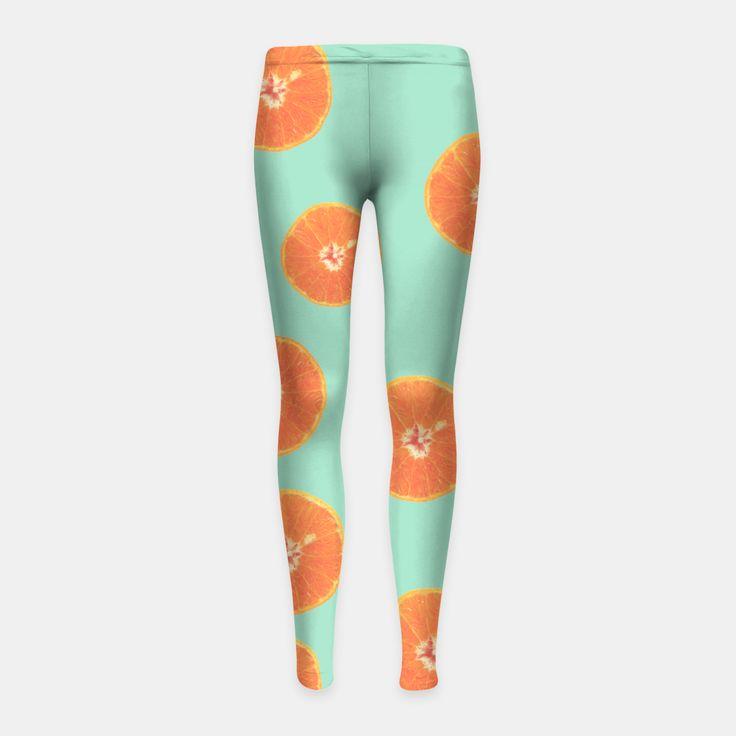 Oranges Girl's Leggings, Live Heroes