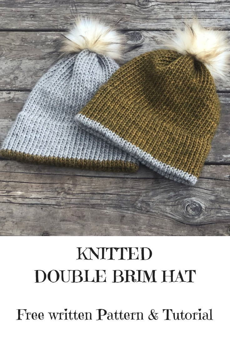 I M Really Enjoying Making These Double Brim Knitted Hats Right Now They Re Beginner Friendly Knitting Patterns Free Hats Hat Knitting Patterns Knitted Hats