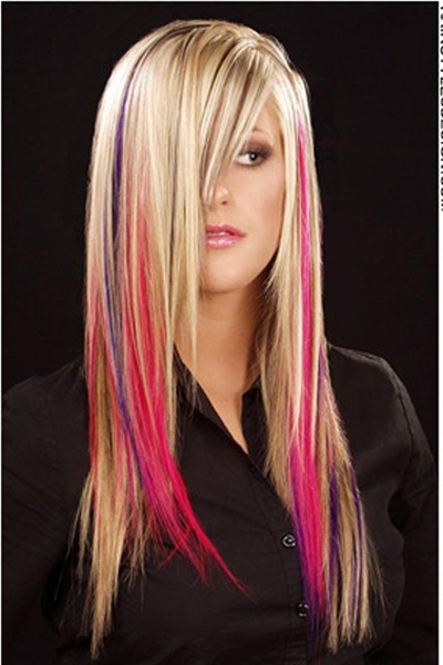 Long Multi Colored Hairstyle Hair Pinterest Emo Hairstyles Emo And Hair Coloring