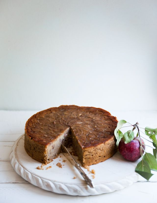 backyard apple + walnut cake