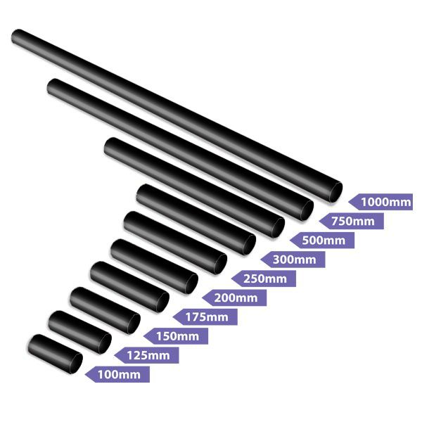 #xpole black powder coated extensions for your X-Pole SPORT or XPert pole. Call your regional X-Pole office or use our online ceiling height calculator to ascertain your extension requirements.