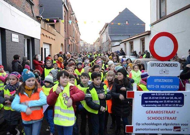 Gent heeft er opnieuw een schoolstraat bij: in Sint-Amandsberg. Het Nieuwsblad