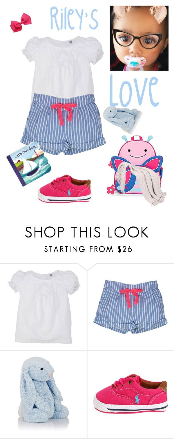 """""""Riley's blue & pink short sent 2017"""" by angela-glasco-may ❤ liked on Polyvore featuring Jellycat and Ralph Lauren"""
