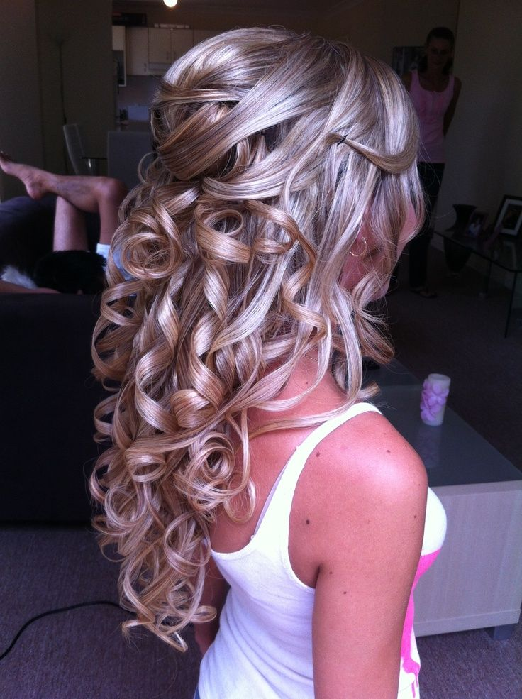 Half Up Half Down Prom Hairstyles Pinterest