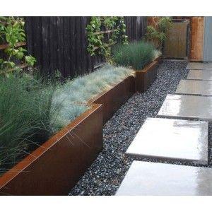 Cortenstalen plantenbak 200x50x60cm