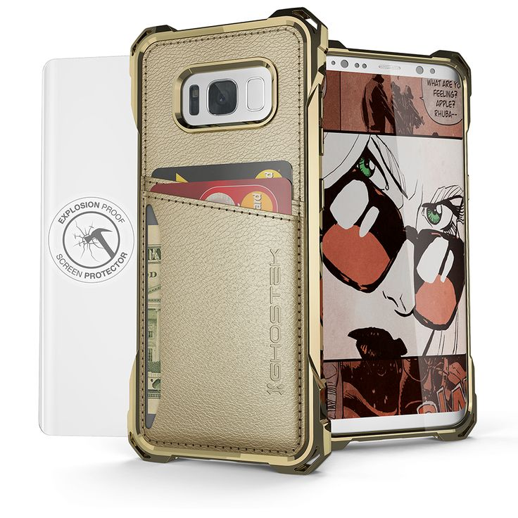 Galaxy S8+ Plus Wallet Case, Ghostek® Exec Series for SamSung Galaxy S8+ Plus Slim Armor Hybrid Impact Bumper | TPU PU Leather Credit Card Slot Holder Sleeve Cover | Shatterproof Screen Protector (Gold) 3 Pocket Wallet (For Your Credit Cards, ID's & Cash) Touch ID Compatible Includes Soft Screen Protector Easy Access to All Buttons, Controls, Camera, Speaker & Microphone Five Colors to Choose From This Case Comes With Ghostek's Lifetime Limited Exchange Warranty. Your case is covered, no…
