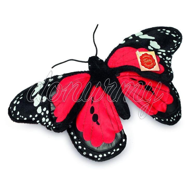 Peluche Mariposa Roja Hermann Teddy - Donurmy.es