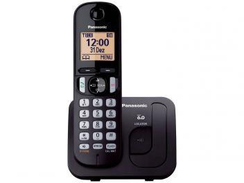 Telefone Sem Fio Panasonic - Identificador de chamada KX-TGC210LBB Viva-Voz