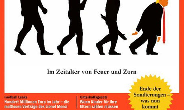 German Magazine Der Spiegel Burns Trump With  'Devolved' Man Cover