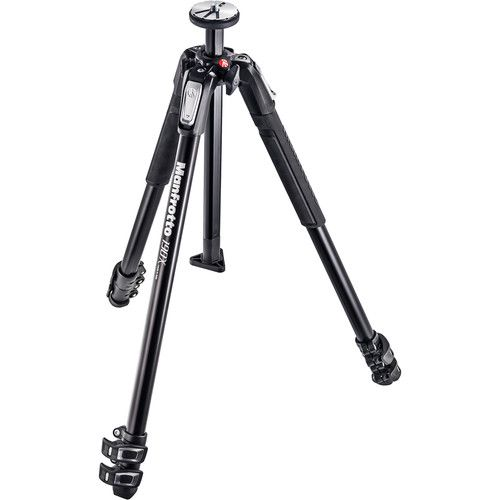 Manfrotto MT190X3 Aluminum Tripod with 056 3-D Junior Pan/Tilt Head