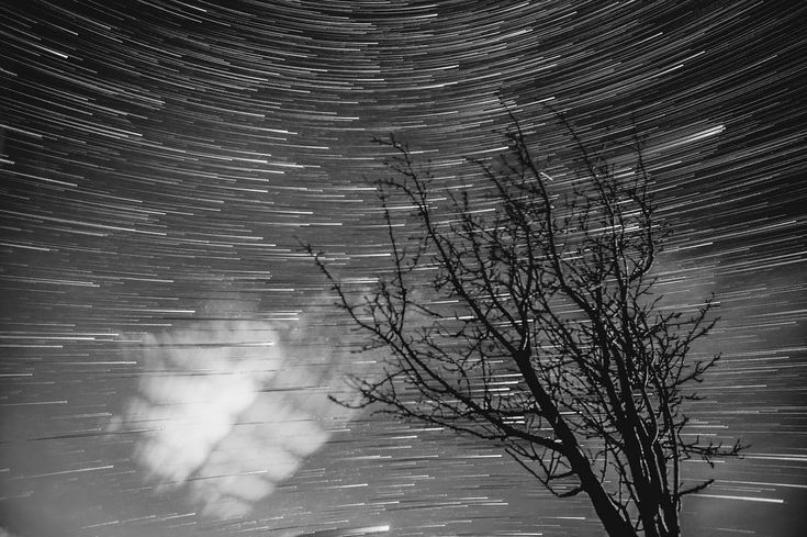 #monochrometuesday Black and white Star Trails are so awesome!