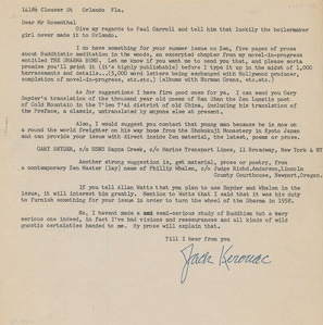1958 Kerouac Letter for Auction!