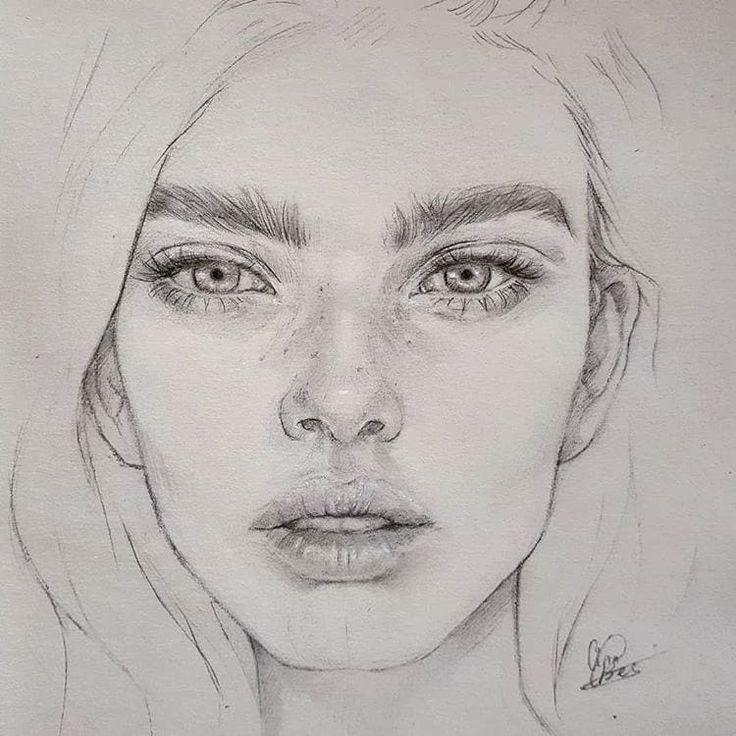 Лицо рисовать картинка
