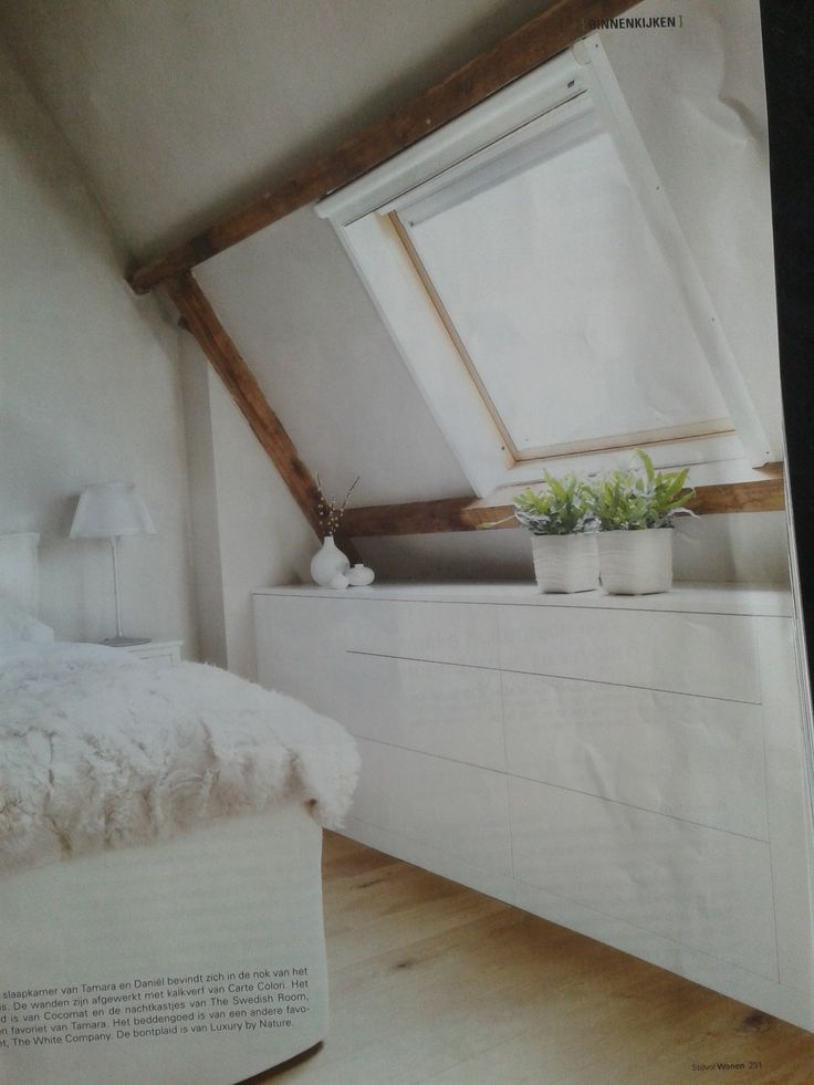 Kast onder schuine wand slaapkamer