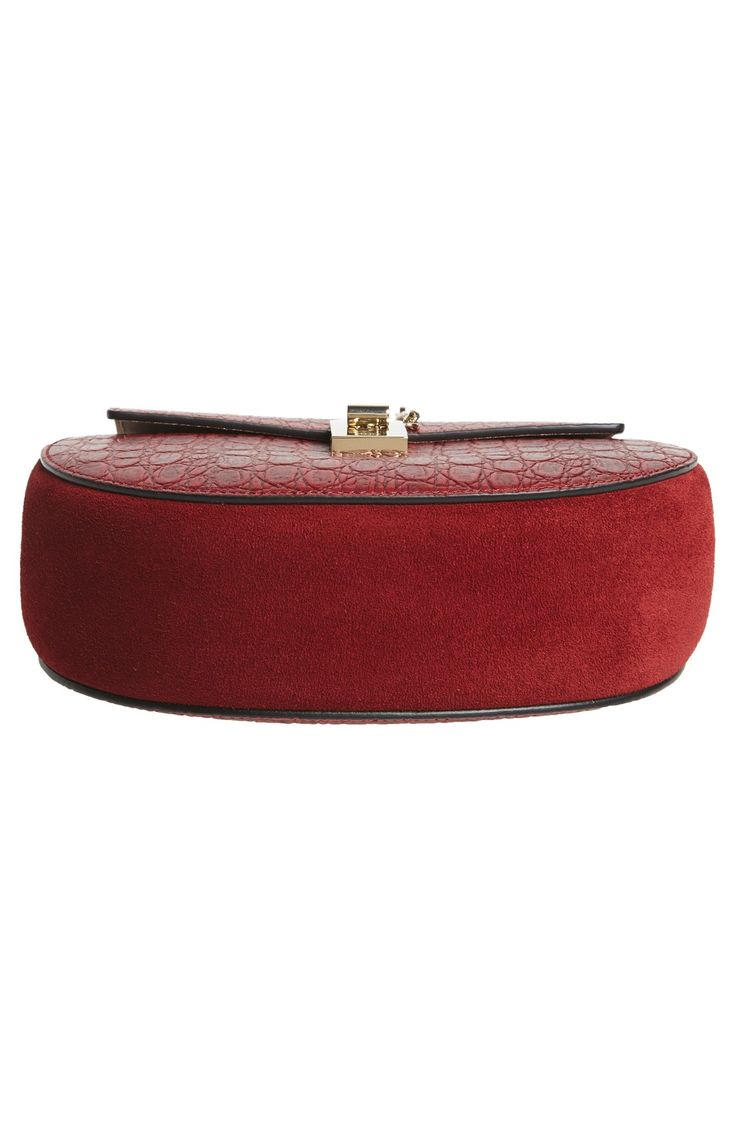 replica chloe bags uk - Chloe \u0026#39;Small Drew\u0026#39; Croc Embossed Calfskin Leather Shoulder Bag ...